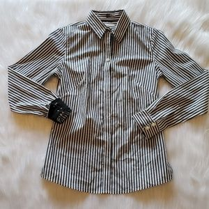 Banana Republic Non-Iron Fitted Shirt Top Blouse 4